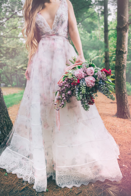 In Living Color: How to Add Color to Your Wedding Dress - B. Loved ...